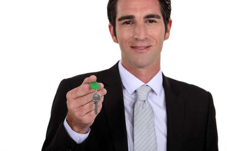 letting: Estate agent holding house key