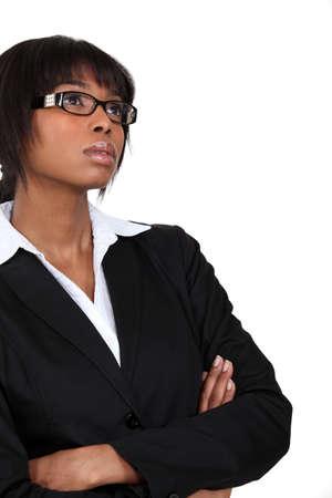 rapturous: Pensive woman