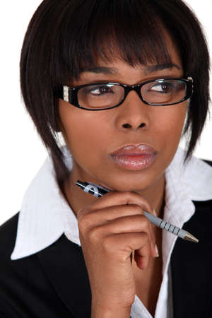portrait of a beautiful Afro-American businesswoman Stock Photo - 15263757