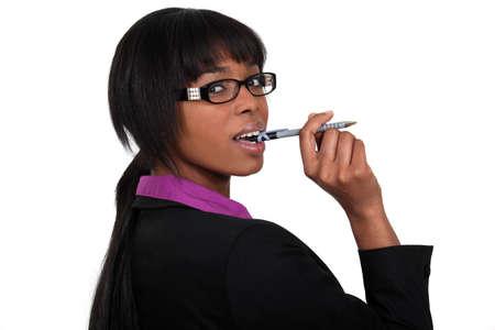 Businesswoman in glasses Stock Photo - 15263540