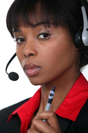 operative: Call-centre operative holding pen