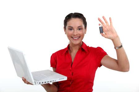 usb storage device: Businesswoman backed-up her data