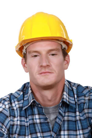 Grumpy builder photo