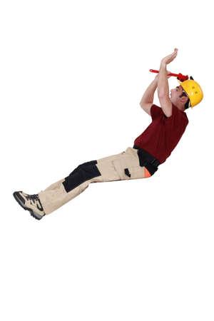 Horizontal image builder of builder balancing Stock Photo - 15289449