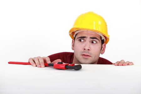tradesman: craftsman looking very surprised