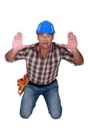 journeyman technician: Trapped construction worker