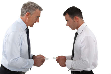 Businessmen arguing photo