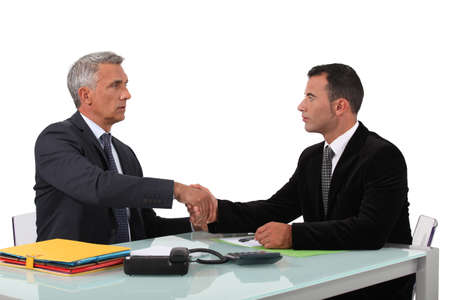 non verbal: A business handshake Stock Photo