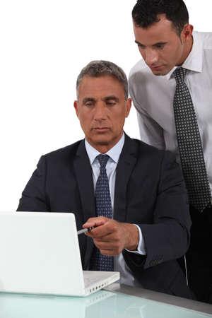 mature businessman: Manager and salesman Stock Photo