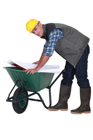 deployed: Bricklayer on trolley