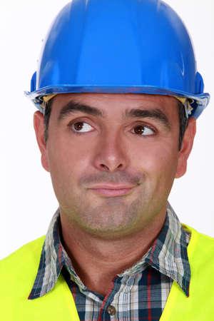 Pensive foreman Stock Photo - 15290170