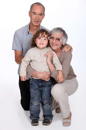 cherishing: grandparents and their grandson