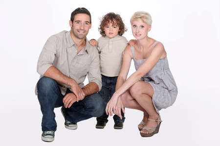 parentage: Studio shot of a young family Stock Photo