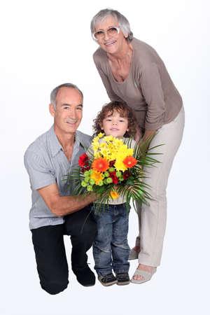 grandparents and grandson Stock Photo - 15290150