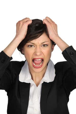 Portrait of a businesswoman upset Stock Photo - 15331643