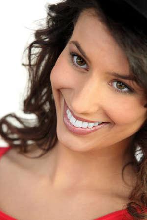 Smiling natural brunette Stock Photo - 15331930