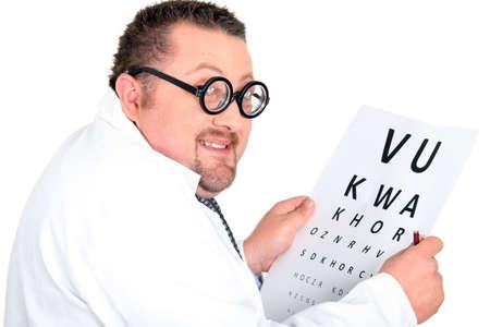 Eye doctor with an eye chart Stock Photo - 15331686