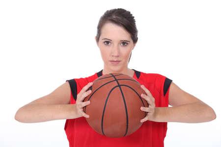 b ball: Basketball player Stock Photo