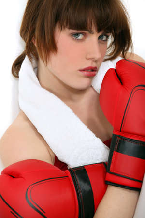A female boxer. photo