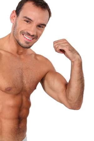 Portrait of muscular man photo