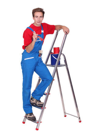 supported: Painter with ladder and brush