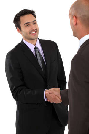 impression: A business handshake Stock Photo