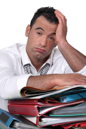 overwhelmed: overwhelmed worker