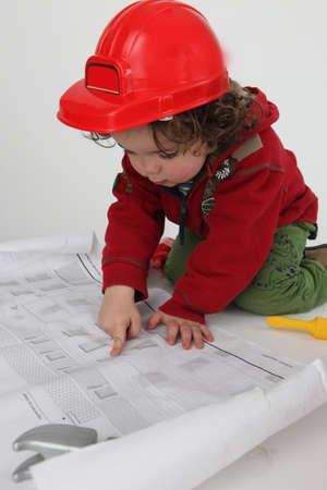 r�le: Architecte enfant Banque d'images