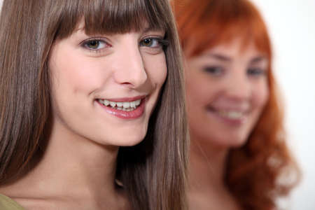 two young women posing Stock Photo - 15411675