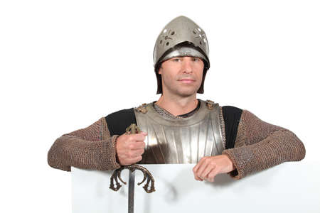 Man dressed as a knight photo