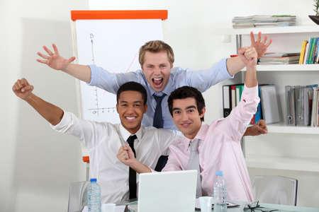 triumphant: A triumphant business team