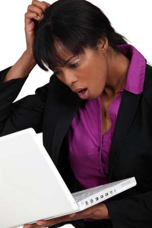 dubious: A dubious African American businesswoman