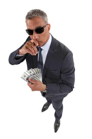 money laundering: Ritratto di un truffatore Archivio Fotografico