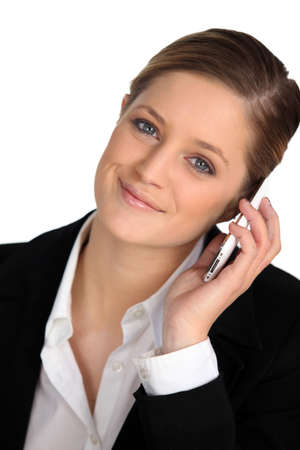 recently: Blond woman with mobile phone