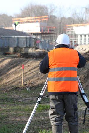 elevation meter: Surveyor on site