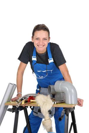 Female plumber Stock Photo - 15409433