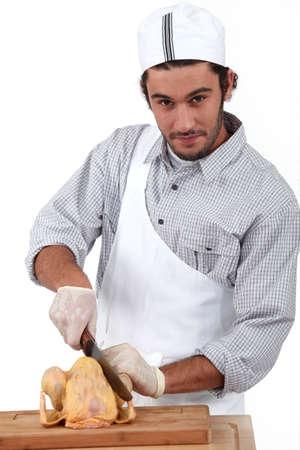 carnicero: retrato de un carnicero Foto de archivo