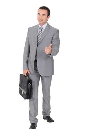 sales representative: Businessman with thumbs up