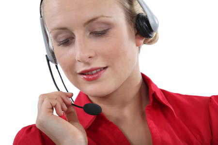 Portrait of telephone operator photo