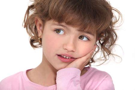 little girl surprised: cute little girl