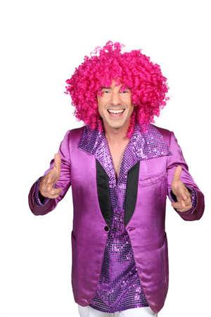 showman: Happy clown Stock Photo