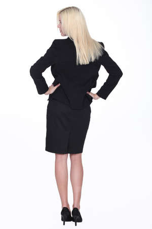 authoritative: An authoritative businesswoman