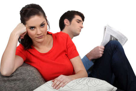 inconvenient: Angry couple Stock Photo