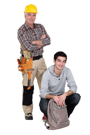 Carpenter and a college student photo