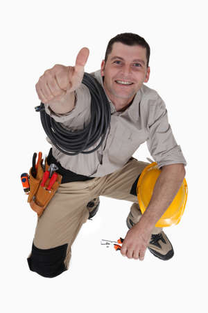 Tradesman giving the thumb's up Stock Photo - 15410843