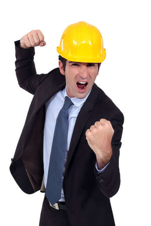 Architect ready to fight Stock Photo - 15410855