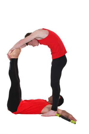 acrobat gymnast: Male athletes