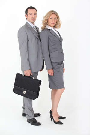 unkind: Businesspeople on white background