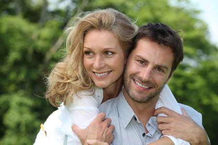 soul mate: Portrait of a couple outdoors