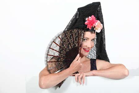 Woman in Spanish senora costume Stock Photo - 15449172